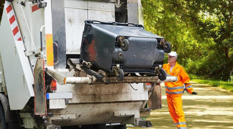 Trash pickup truck in pittsfield vt